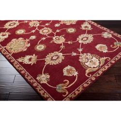 Hand-tufted Red Amurensis Wool Rug (5' x 8') - Thumbnail 2