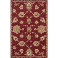 Hand-tufted Red Amurensis Wool Area Rug - 5' x 8'