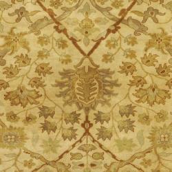 Hand-knotted Cream Kabocha New Zealand Wool Rug (3'9 x 5'9) - Thumbnail 2
