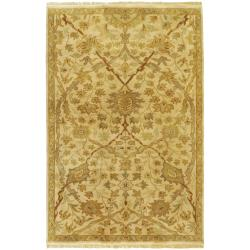 Hand-knotted Cream Kabocha New Zealand Wool Area Rug - 3'9 x 5'9 - Thumbnail 0