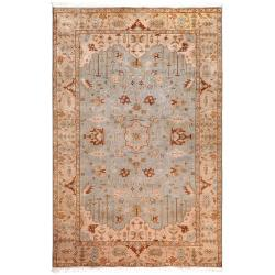 Hand-knotted Light Blue Ismo New Zealand Wool Area Rug (8' x 11') - Thumbnail 0