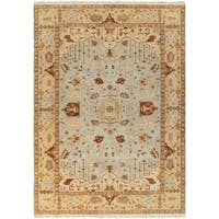 Hand-knotted Light Blue Ismo New Zealand Wool Area Rug - 8' X 11'