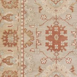 Hand-knotted Beige Oca Wool Rug (5'6 x 8'6) - Thumbnail 1