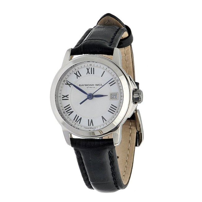 Raymond Weil Women's 5378-STC-00300 Stainless Steel Black Leather Watch