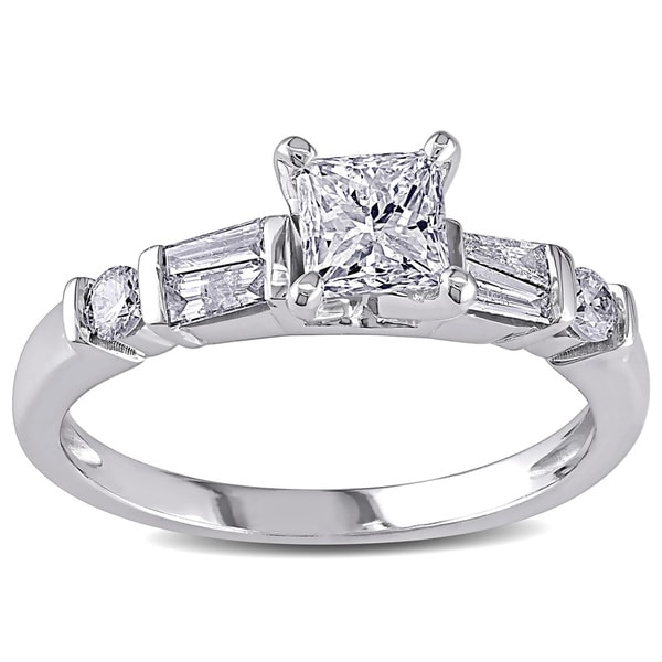 Miadora Signature Collection 14k White Gold 3/4ct TDW Diamond Ring