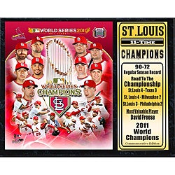 St. Louis Cardinals 2011 World Series Champion Black Plaque - Thumbnail 0