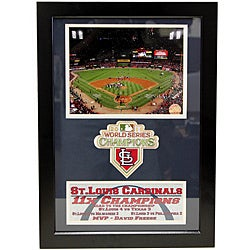 St. Louis Cardinals 2011 World Series Champions Navy Patch Frame