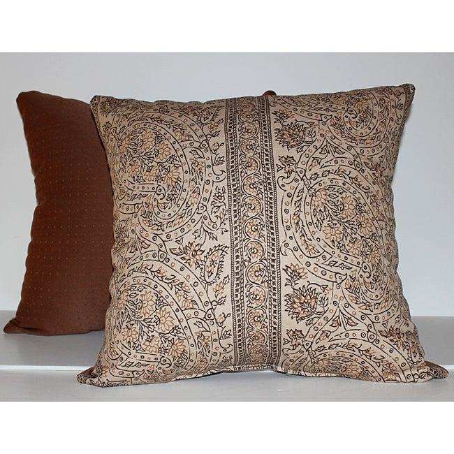 RLF Home Paisley Stripe Decorative Pillow (Set of 2)