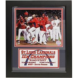St. Louis Cardinals 2011 World Series Champions Deluxe Frame