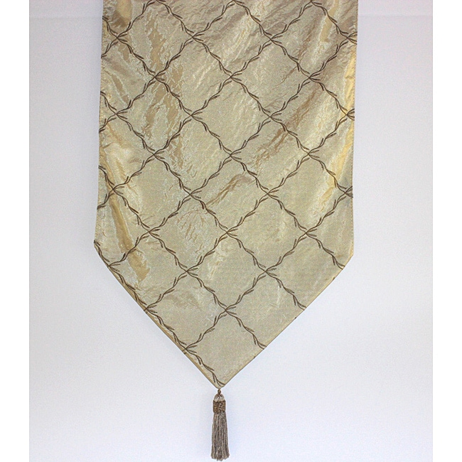 Delhi champagne 72 inch table runner free shipping today for Table runners 52 inches