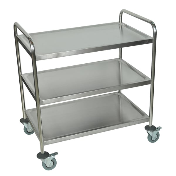 Merveilleux Luxor Silver Three Shelf Rolling Stainless Steel Kitchen Cart