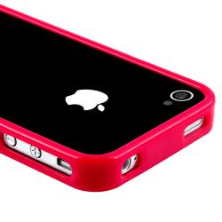 INSTEN Red Bumper Case Cover/ Protector/ Headset/ Wrap for Apple iPhone 4S