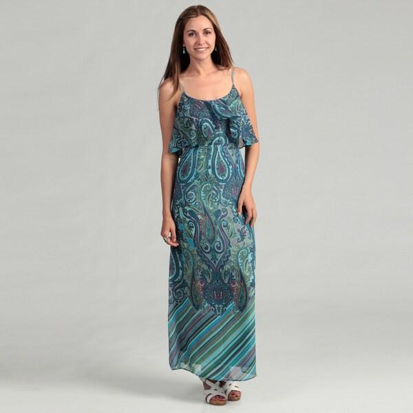 ebccbcc0bb Shop Sandra Darren Women s Paisley Popover Maxi Dress FINAL SALE ...
