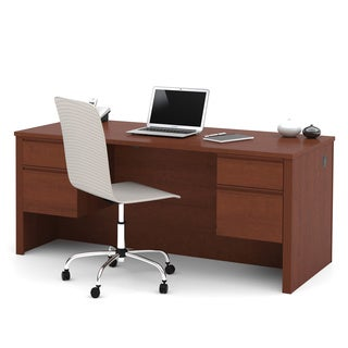 Durable Bestar Prestige Plus Four-Drawer Laminate Executive Desk