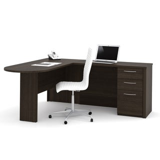 Bestar Prestige L Shaped Desk With Pedestal Free