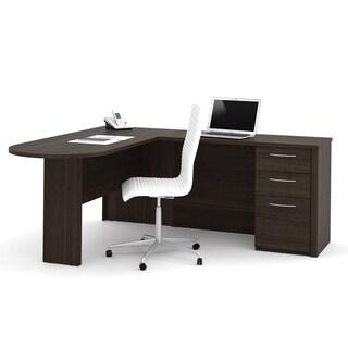 Bestar Embassy L-Shaped Workstation Desk
