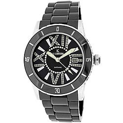 Le Chateau Women's 'Persida' Black Ceramic Watch
