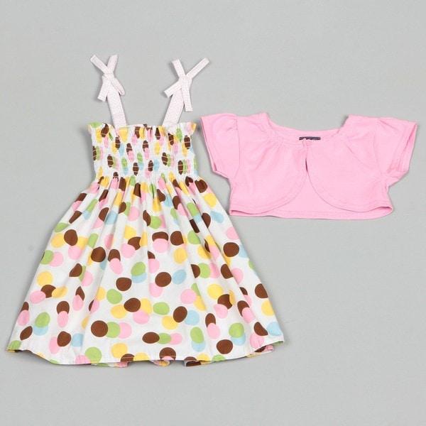 So La Vita Toddler Girl's Dress with Shrug