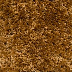 Hand-woven Brown Cushaw Super Soft Shag Rug (5' x 8')