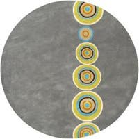 Palm Canyon Tecopa Hand-tufted Multicolored Circles Geometric Dames New Zealand Wool Area Rug - 6'