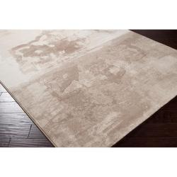 Meticulously Woven Tan Spratay Abstract Rug (7'10 x 10')