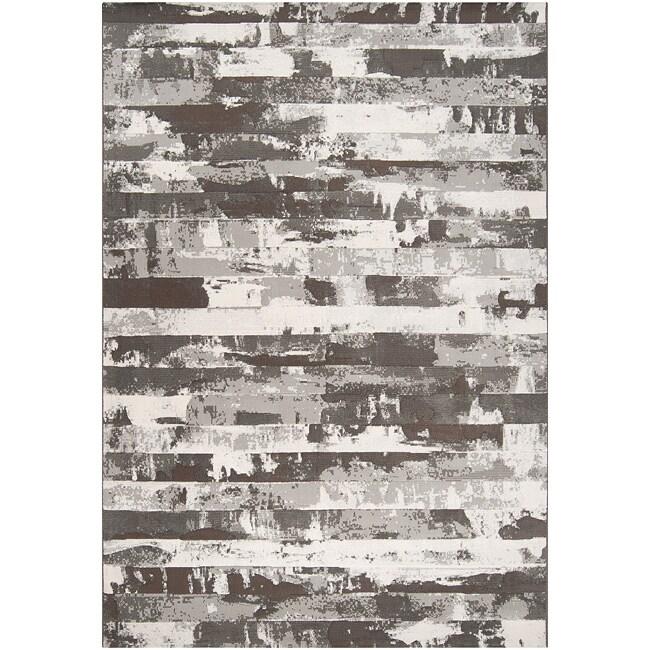 Black Streyay Abstract Area Rug - 7'10 x 10'