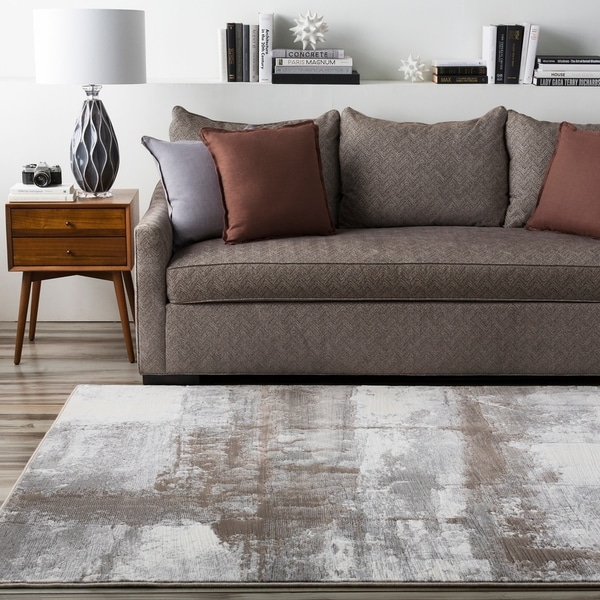 "Grey Satay Abstract Area Rug - 7'10"" x 10'"