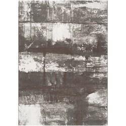 Grey Satay Abstract Area Rug - 7'10 x 10' - Thumbnail 0