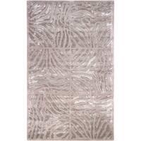 "Hand-tufted Beige Zebra Animal Print Socrats Wool Area Rug (3'3 x 5'3) - 3'3"" x 5'3"""