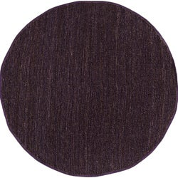 Hand-woven Natural Fiber Jute Natural Pointus Rug (8' Round)