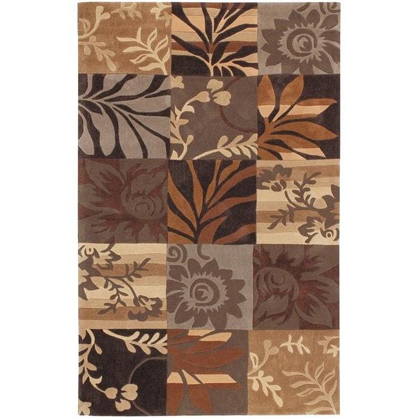 Hand-tufted Brown Madela Area Rug - 9' x 13'