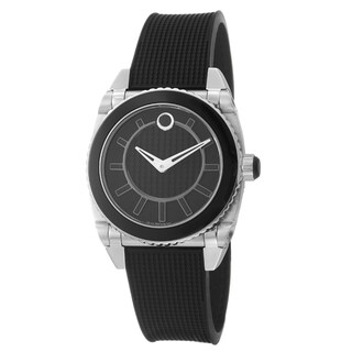 Movado Women's 0606298 'Master' Stainless Steel and Rubber Quartz Watch