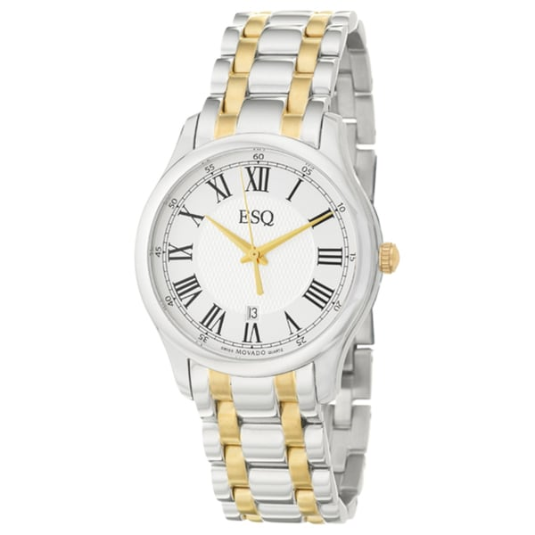 ESQ by Movado Men's 'Filmore' Yellow Goldplated Steel Quartz Watch