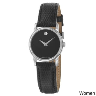 Movado Collection Men's or Women's Stainless Steel and Leather Quartz Watch (Option: Women's - Brown)