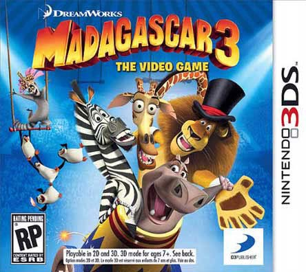 NinDs 3DS - Madagascar 3