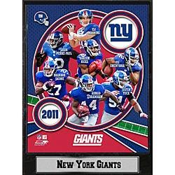 2011 New York Giants 9 X 12 Team Plaque - Thumbnail 0