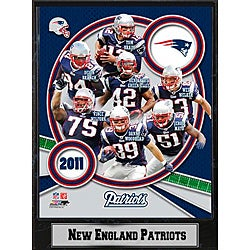 2011 New England Patriots 9 X 12 Team Plaque