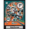 2011 Miami Dolphins 9 X 12 Team Plaque