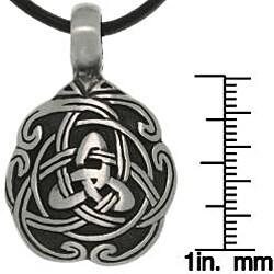 Carolina Glamour Collection Pewter Unisex Celtic Unity Necklace - Thumbnail 2