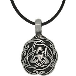 Carolina Glamour Collection Pewter Unisex Celtic Unity Necklace|https://ak1.ostkcdn.com/images/products/6472838/CGC-Pewter-Unisex-Celtic-Unity-Necklace-P14067904.jpg?_ostk_perf_=percv&impolicy=medium