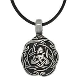 Carolina Glamour Collection Pewter Unisex Celtic Unity Necklace|https://ak1.ostkcdn.com/images/products/6472838/CGC-Pewter-Unisex-Celtic-Unity-Necklace-P14067904.jpg?impolicy=medium
