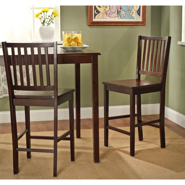 Simple Living 24-inch Shaker Bar Stools (Set of 2)