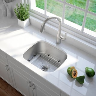 KRAUS 20-inch Undermount Single Bowl 16 Gauge Stainless Steel Kitchen Sink with NoiseDefend Soundproofing