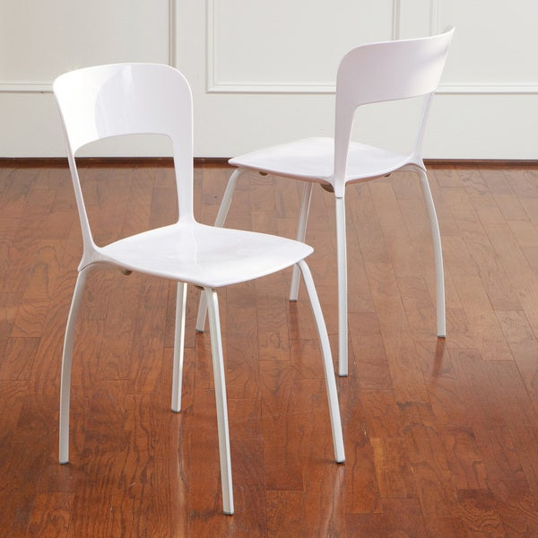 Christopher Knight Home White Modern Chairs (Set of 2)
