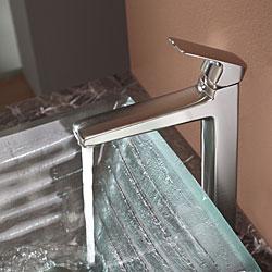 Kraus Bathroom Combo Set Clear Alexandrite Glass Vessel Sink/Faucet - Thumbnail 1