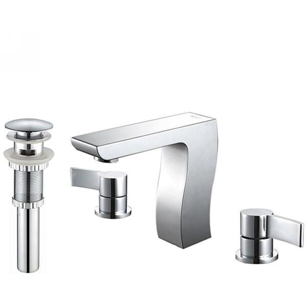 Kraus Sonus Three-hole Bas-inch Faucet/ Pop Up Drain with Overflow Chrome