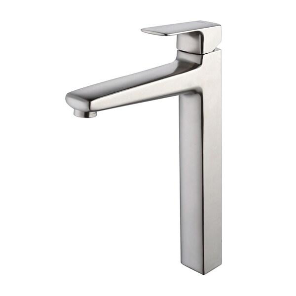 KRAUS Virtus Single Hole Single-Handle Vessel Bathroom Faucet in Brushed Nickel