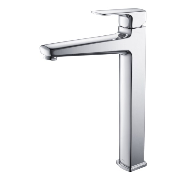 KRAUS Virtus Single Hole Single-Handle Vessel Bathroom Faucet in Chrome