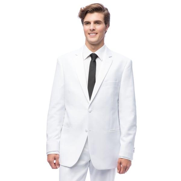 Men's White 2-Button Tuxedo
