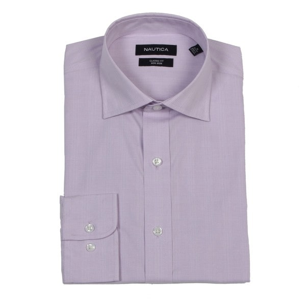 Nautica Men 39 S Light Purple Non Iron Dress Shirt Free